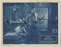 3x793 MAN WHO PLAYED SQUARE LC '24 Buck Jones in great outfit defends guy laying on bed!