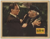 3x795 MAN WHO WOULDN'T DIE LC '42 close up of Lloyd Nolan holding gun by scared Francis Ford!
