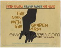 3x292 MAN WITH THE GOLDEN ARM TC '56 Frank Sinatra, Otto Preminger, drugs, classic Saul Bass art!