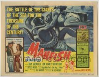 3x293 MANFISH TC '56 aqua-lung divers in death struggle with each other & sea creatures!