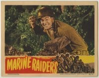 3x797 MARINE RAIDERS LC '44 close up of Robert Ryan about to throw a grenade in World War II!