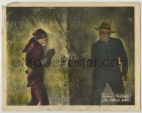 3x798 MARK OF ZORRO LC '20 great close up of costumed Douglas Fairbanks Sr. by bad guy by wall!