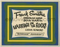 3x302 MARRIAGE ON THE ROCKS local theater TC '65 Frank Sinatra, only the title and credits!