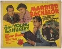 3x303 MARRIED BACHELOR TC '41 Robert Young's an author pretending not to be married to Ruth Hussey!