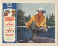 3x800 MARSHALS IN DISGUISE LC '54 Guy Madison as Wild Bill Hickok crouching with guns drawn!