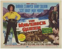 3x307 MAVERICK QUEEN TC '56 sexy, tough cowgirl Barbara Stanwyck, from Zane Grey's novel!