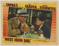 3x802 MEET JOHN DOE LC R40s Gary Cooper at bar listens to James Gleason, directed by Frank Capra!