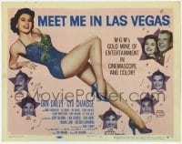 3x312 MEET ME IN LAS VEGAS TC '56 super sexy full-length showgirl Cyd Charisse in skimpy outfit!