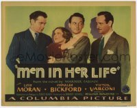 3x315 MEN IN HER LIFE TC '31 Lois Moran, Charles Bickford, Victor Varconi & Don Dillaway!