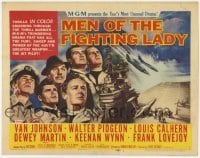 3x317 MEN OF THE FIGHTING LADY TC '54 Van Johnson, James A. Michener's forgotten heroes of Korea!