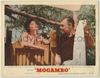 3x811 MOGAMBO LC #6 '53 Clark Gable won't give naked Ava Gardner her towel after her shower!