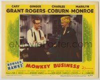 3x813 MONKEY BUSINESS LC #7 '52 Ginger Rogers smiles at Cary Grant wearing glasses, Howard Hawks!