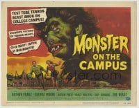 3x322 MONSTER ON THE CAMPUS TC '58 Reynold Brown art of test tube terror amok on the college!