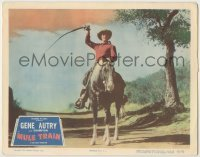 3x815 MULE TRAIN LC #8 '50 best portrait of Gene Autry on Champion with his whip held overhead!