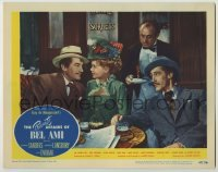 3x857 PRIVATE AFFAIRS OF BEL AMI LC #2 '47 John Carradine watches George Sanders & Marie Wilson!