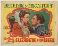 3x858 PRIVATE LIVES OF ELIZABETH & ESSEX LC #6 R51 romantic close up of Bette Davis & Errol Flynn!