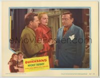 3x862 QUICKSAND LC #6 '50 Mickey Rooney & Jeanne Cagney stare at smoking Peter Lorre!