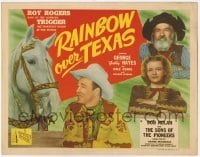 3x376 RAINBOW OVER TEXAS TC '46 great image of Roy Rogers, Trigger, Dale Evans & Gabby Hayes!