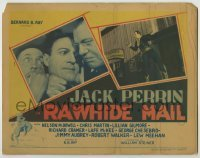 3x380 RAWHIDE MAIL TC '34 two great images of cowboy hero Jack Perrin + art of him on horse!