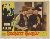 3x865 RECKLESS RANGER LC '37 image of cowboy Bob Allen & Jack Rockwell with guns drawn!