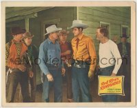 3x867 RED RIVER RENEGADES LC '46 five men watch cowboy Sunset Carson with gun drawn!
