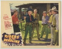 3x868 RIDERS OF THE DEADLINE LC #7 '43 bad guys hold William Boyd as Hopalong Cassidy at gunpoint!