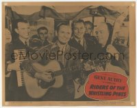 3x872 RIDERS OF THE WHISTLING PINES LC R54 Gene Autry plays guitar with the Cass County Boys!