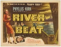 3x391 RIVER BEAT TC '54 the dragnet is out for smoking bad girl Phyllis Kirk, who is HOT!