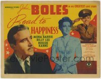 3x393 ROAD TO HAPPINESS TC '42 pretty Mona Barrie & John Boles in his greatest love story!