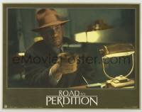 3x875 ROAD TO PERDITION 10.5x13.5 LC '02 Sam Mendes directed, c/u of Tom Hanks pointing gun!