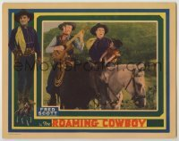 3x877 ROAMING COWBOY LC '37 Fred Scott, the silvery voiced baritone cowboy, singing on horse!