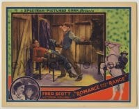 3x882 ROMANCE RIDES THE RANGE LC '36 cowboy hero Fred Scott in death struggle with bad guy!