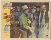 3x885 ROUNDUP LC '41 townspeople watch cowboy Preston Foster hug sad young girl!