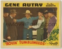 3x886 ROVIN' TUMBLEWEEDS LC '39 cowboy hero Gene Autry gets between two men arguing by train!