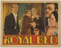 3x887 ROYAL BED LC '31 Lowell Sherman holds scared Mary Astor wearing fur coat by Anthony Bushell!