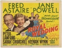 3x398 ROYAL WEDDING TC '51 great image of dancing Fred Astaire & sexy Jane Powell, MGM musical!