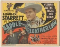 3x400 SADDLE LEATHER LAW TC '44 Charles Starrett, Dub Taylor, western justice blazes into action!