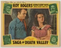 3x888 SAGA OF DEATH VALLEY signed LC '40 by Don 'Red' Barry, who's in the border, Roy Rogers, Hayes
