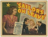 3x402 SAILORS ON LEAVE TC '41 Navy sailor William Lundigan loves pretty Shirley Ross!