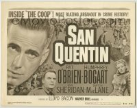 3x403 SAN QUENTIN TC R50 convict Humphrey Bogart in the most blazing breakout in crime history!
