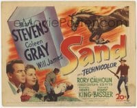 3x404 SAND TC '49 cool horse cowboy western w/ Will James, Coleen Gray, Rory Calhoun!