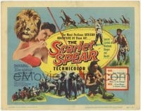 3x406 SCARLET SPEAR TC '54 Martha Hyer, Africa, nature in the raw, cool art of lions, elephants!