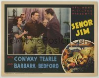 3x895 SENOR JIM LC '36 Barbara Bedford watches angry Conway Tearle about to fight younger man!