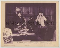 3x897 SHE SNOOPS TO CONQUER LC '44 Barbara Jo Allen as Vera Vague covers her ears by tiny cannon!