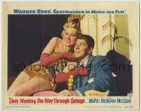 3x899 SHE'S WORKING HER WAY THROUGH COLLEGE LC #5 '52 sexy smiling Virginia Mayo w/ Ronald Reagan!