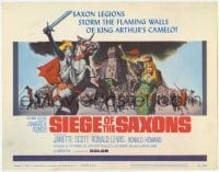 3x415 SIEGE OF THE SAXONS TC '63 King Arthur's Camelot, cool knight on horseback art!