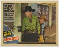 3x905 SILVER BULLET LC '42 Johnny Mack Brown with gun drawn with Fuzzy Knight close behind!