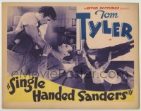 3x422 SINGLE-HANDED SANDERS TC R30s two great images of cowboy Tom Tyler brawling with bad guys!