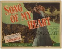 3x432 SONG OF MY HEART TC '48 Frank Sundstrom in romantic bio of Russian composer Tchaikovsky!
