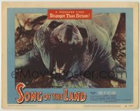3x914 SONG OF THE LAND LC #2 '53 sea elephant close up is a thousand times stranger than fiction!